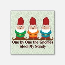 One By One The Gnomes Funny Design Sticker