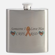 Someone I Love Has CRPS RSD Ribbon 3 x10 Car Flask