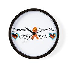 Someone I Love Has CRPS RSD Ribbon 3 x1 Wall Clock