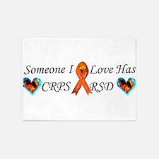 Someone I Love Has CRPS RSD Ribbon 5'x7'Area Rug