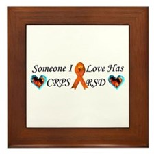 Someone I Love Has CRPS RSD Ribbon 3 x Framed Tile