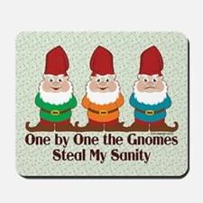 One By One The Gnomes Funny Design Mousepad