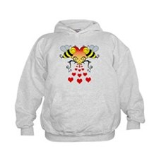 Bumble Bees Hearts Design Hoodie