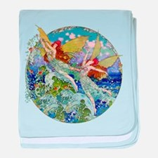 Djer Kiss Art Deco Sea Fairies baby blanket