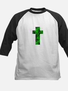 Green Irish Catholic Crucifix St. Baseball Jersey