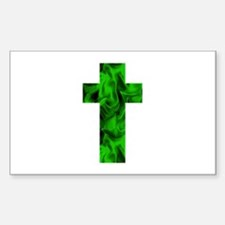 Green Irish Catholic Crucifix St. Patricks Decal