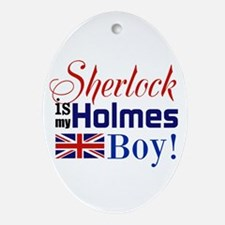 My Holmes Boy Ornament (Oval)