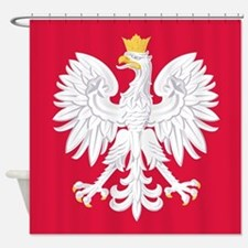 Poland Coat Of Arms Shower Curtain