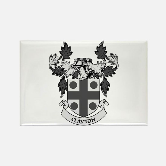 CLAYTON Coat of Arms Rectangle Magnet