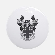 CLAYTON Coat of Arms Ornament (Round)