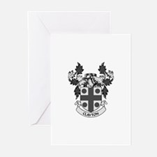 CLAYTON Coat of Arms Greeting Cards (Pk of 10)