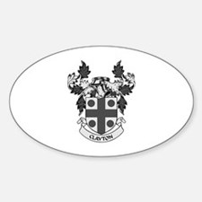 CLAYTON Coat of Arms Oval Decal