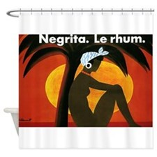 Negrita Le Rhum, Vintage Poster Art Shower Curtain