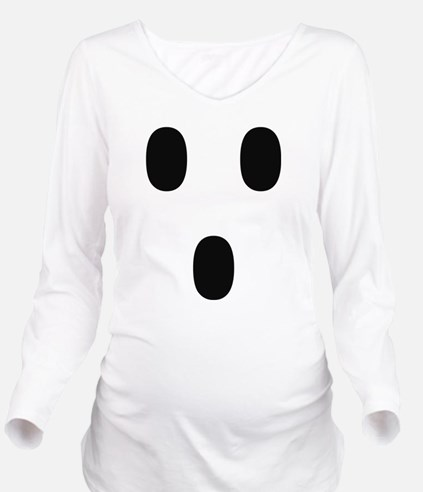 Ghosty Costume Long Sleeve Maternity T-Shirt