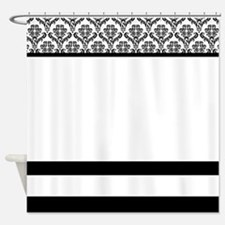 Elegant Damask Shower Curtain