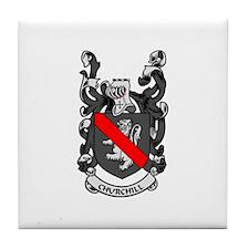 CHURCHILL Coat of Arms Tile Coaster