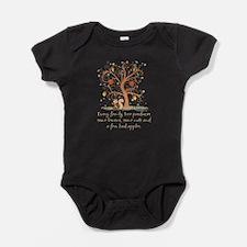 Funny Family Tree Saying Design Baby Bodysuit