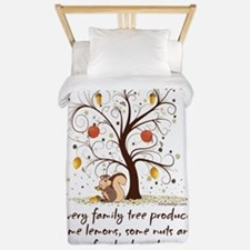 Funny Family Tree Saying Design Twin Duvet