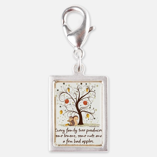 Funny Family Tree Saying Design Charms