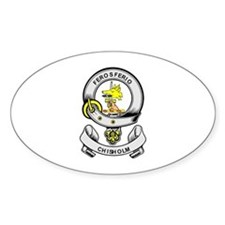 CHISHOLM Coat of Arms Oval Decal