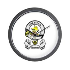 CHISHOLM Coat of Arms Wall Clock