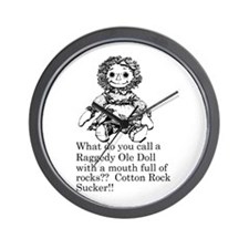 Raggedy Stuffed Doll Humor Wall Clock