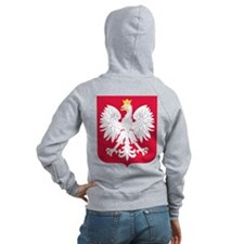 Poland Coat Of Arms Zip Hoodie