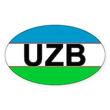 Uzbekistan car bumper sticker