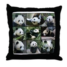 Bear collage Throw Pillow