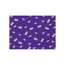 Halloween Eyeballs on Purple Bg 5'x7'Area Rug