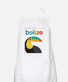 Belize Vintage Travel Poster with Toucan Apron