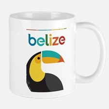 Belize Vintage Travel Poster with Toucan Mugs