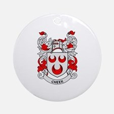 CHEEK Coat of Arms Ornament (Round)