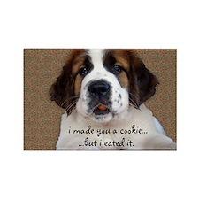 St Bernard Puppy Cookie Magnets