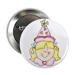Blond Girl Birthday Button