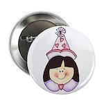 Asian Girl Birthday Button