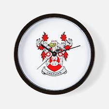 CHAPMAN Coat of Arms Wall Clock