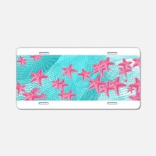 Pink starfish Aluminum License Plate