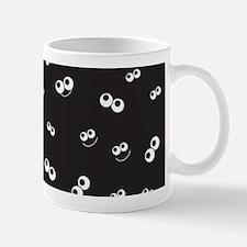 Halloween Eyeballs on Black Bg Mug