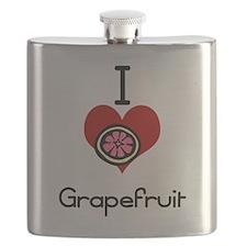 I love-heart grapefruit Flask