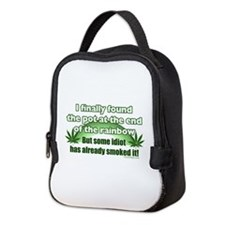 The Pot at the Rainbow Humor Neoprene Lunch Bag