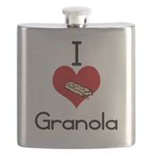I love-heart granola Flask