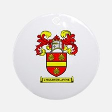 CHAMBERLAYNE Coat of Arms Ornament (Round)