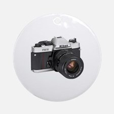 Vintage Camera Ornament (Round)