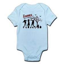 Zombies Are Coming Infant Bodysuit