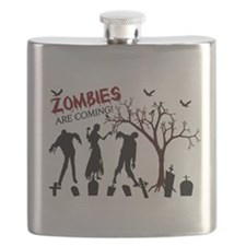 Zombies Are Coming Flask