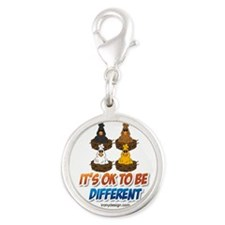 Different Colored Chicken Cartoon Charms
