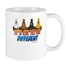 Different Colored Chicken Cartoon Mugs