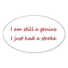 I am Still a Genius I Just Had a Stroke St Decal