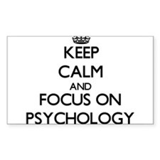 Keep Calm and focus on Psychology Decal